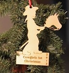 Laser engraved Stick horse Christmas tree ornament
