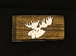 Money clip with Sterling silver Moose head inlay