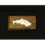 Money clip with Sterling silver Trout Inlay